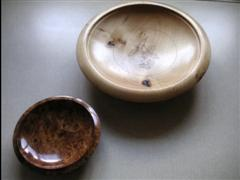 2 pieces by Norman Smithers.He won turning of the month with the large bowl